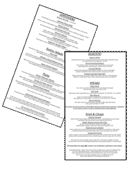 The Pier Menus